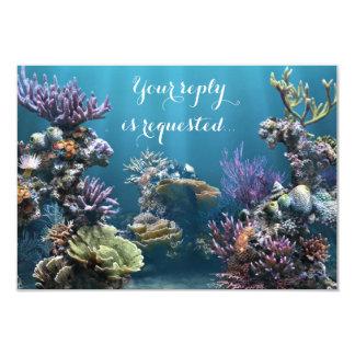 Aquarium Bat Mitzvah RSVP Card