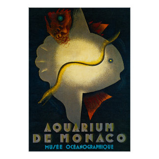 Aquarium de Monaco Advertising Poster