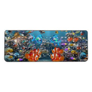 Aquarium Fish Wireless Keyboard