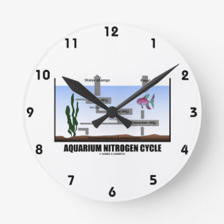 Aquarium Nitrogen Cycle (Ecology) Wall Clock