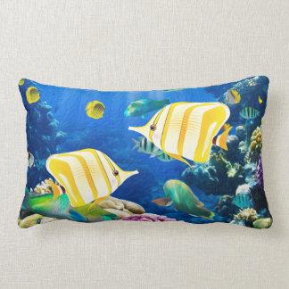 Aquarium Ocean Sea Beach Fish Underwater Photo Lumbar Cushion