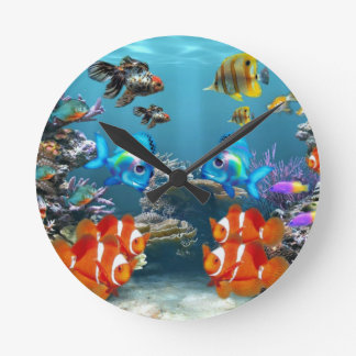 Aquarium Sea Round Clock