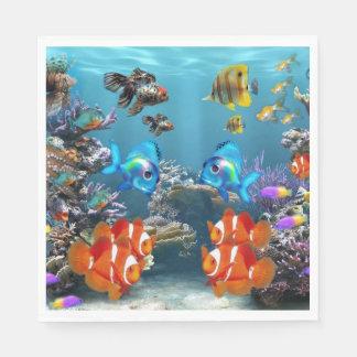 Aquarium Sealife Paper Serviettes