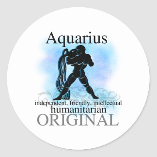 Aquarius About You Round Sticker