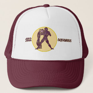 Aquarius Amethyst Embroidered Modern Trucker Hat