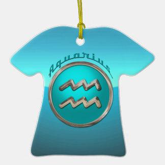 Aquarius Astrological Sign Ceramic T-Shirt Decoration