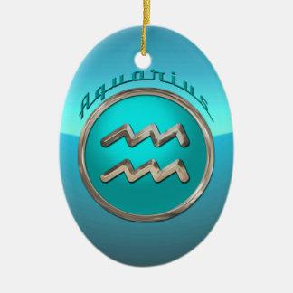 Aquarius Astrological Sign Christmas Ornament