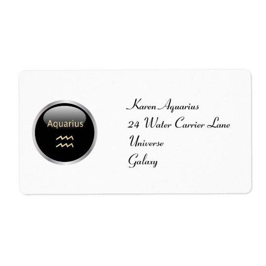 Aquarius astrology personalised address labels