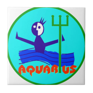 Aquarius Badge Ceramic Tile