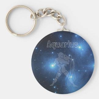 Aquarius Basic Round Button Key Ring