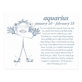 Aquarius [ - BitchScope - ] Postcard