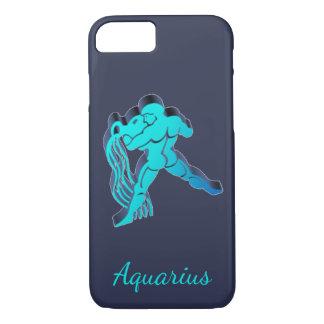 Aquarius Blue Zodiac Astrology Funny Elegant iPhone 8/7 Case