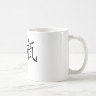 Aquarius Chinese Symbol Basic White Mug