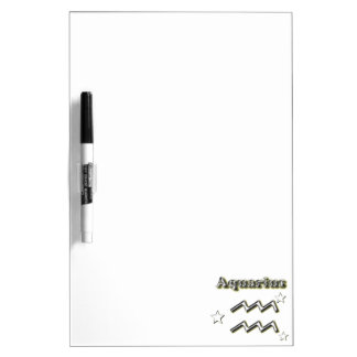 Aquarius chrome symbol dry erase board