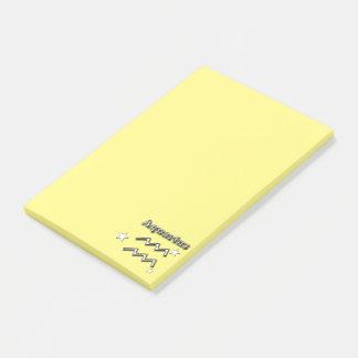 Aquarius chrome symbol post-it notes