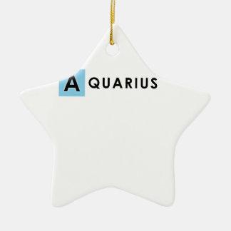 AQUARIUS COLOR CERAMIC STAR DECORATION
