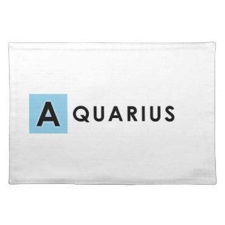 AQUARIUS COLOR PLACEMAT
