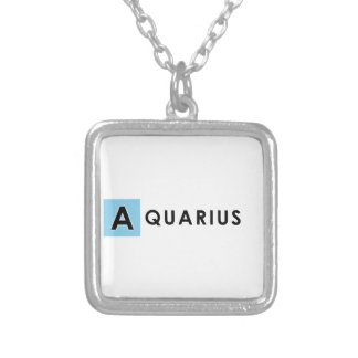 AQUARIUS COLOR SILVER PLATED NECKLACE