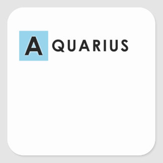 AQUARIUS COLOR SQUARE STICKER
