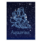 Aquarius Constellation and Zodiac Sign with Stars Postcard