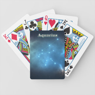 Aquarius constellation bicycle playing cards