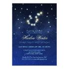 Aquarius Constellation Birthday Party Card