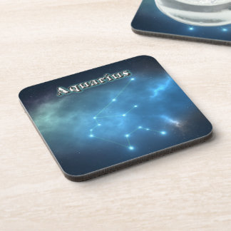 Aquarius constellation coaster