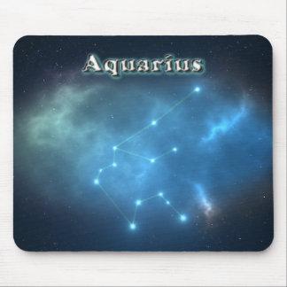 Aquarius constellation mouse pad