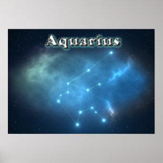 Aquarius constellation poster