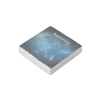 Aquarius constellation stone magnet