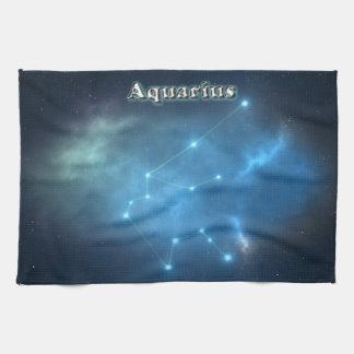 Aquarius constellation tea towel