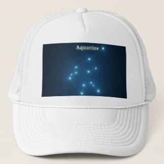 Aquarius constellation trucker hat