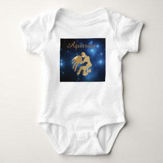 Aquarius golden sign baby bodysuit