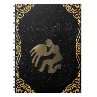 Aquarius golden sign note books