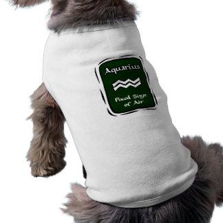 Aquarius Green Graphic Doggie Tee