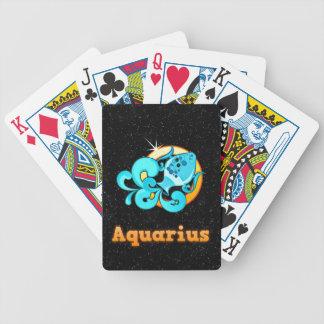Aquarius illustration bicycle playing cards