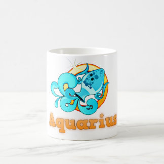 Aquarius illustration coffee mug