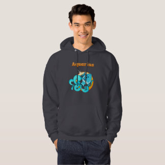 Aquarius illustration hoodie