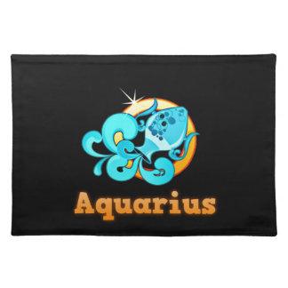 Aquarius illustration place mat