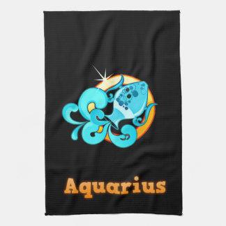 Aquarius illustration tea towel