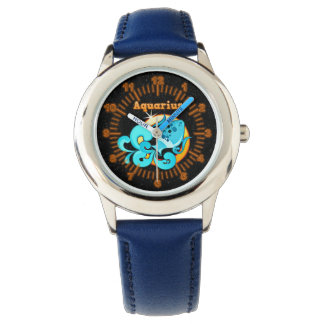 Aquarius illustration watch