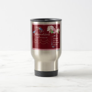 Aquarius January Travel Mug