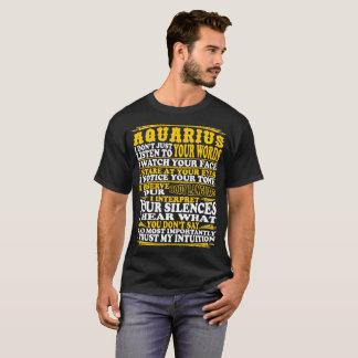 Aquarius Observe Interpret Trust Intuition Tshirt