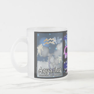 Aquarius Pisces cusp Frosted Glass Coffee Mug