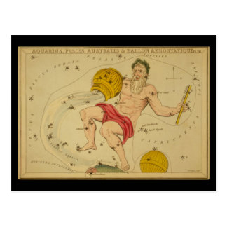 Aquarius, Piscis Australis & Ballon Aerostatique Postcard