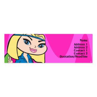 Aquarius Profile Card Pack Of Skinny Business Cards