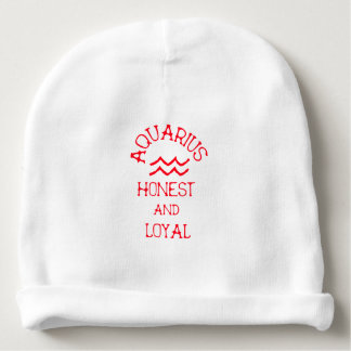 Aquarius (Red Text) Baby Beanie