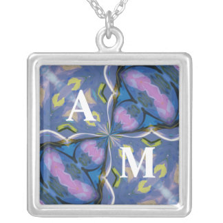 Aquarius Retro Initial Necklace
