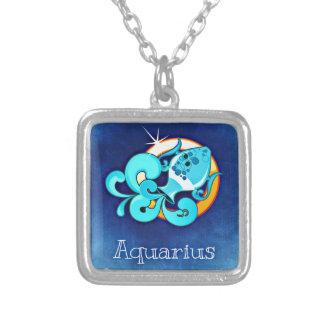 Aquarius Square Pendant Necklace
