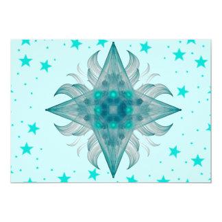"""Aquarius Star Invitation 5"""" X 7"""" Invitation Card"""